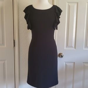 White House Black Market Ruffled Sleeve Dress